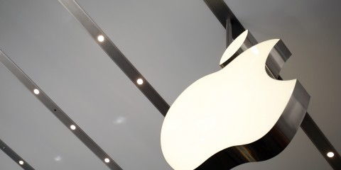 File photo of Apple logo inside the newly opened Omotesando Apple store at a shopping district in Tokyo