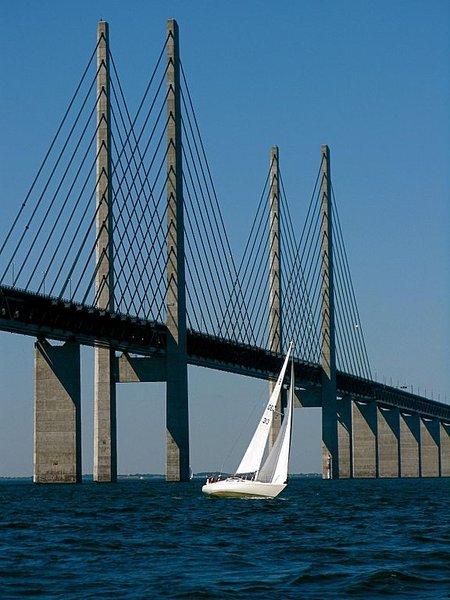 Pont d'Oresund (Copenhage Danemark vers Malmö, Suede)