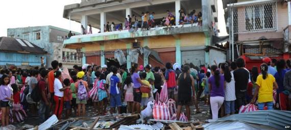 Typhoon Haiyan: Des images satellites de l'avant et après la tempête