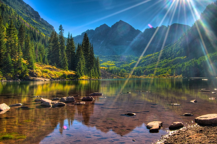 Maroon Bells, Aspen - Colorado (Etats Unis)