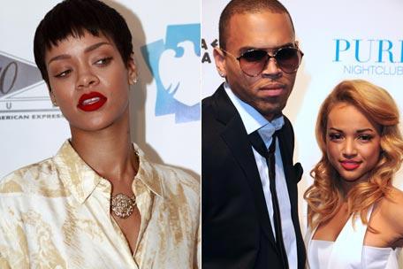 Rihanna est omniprésente dans le couple de Chris etKarrueche