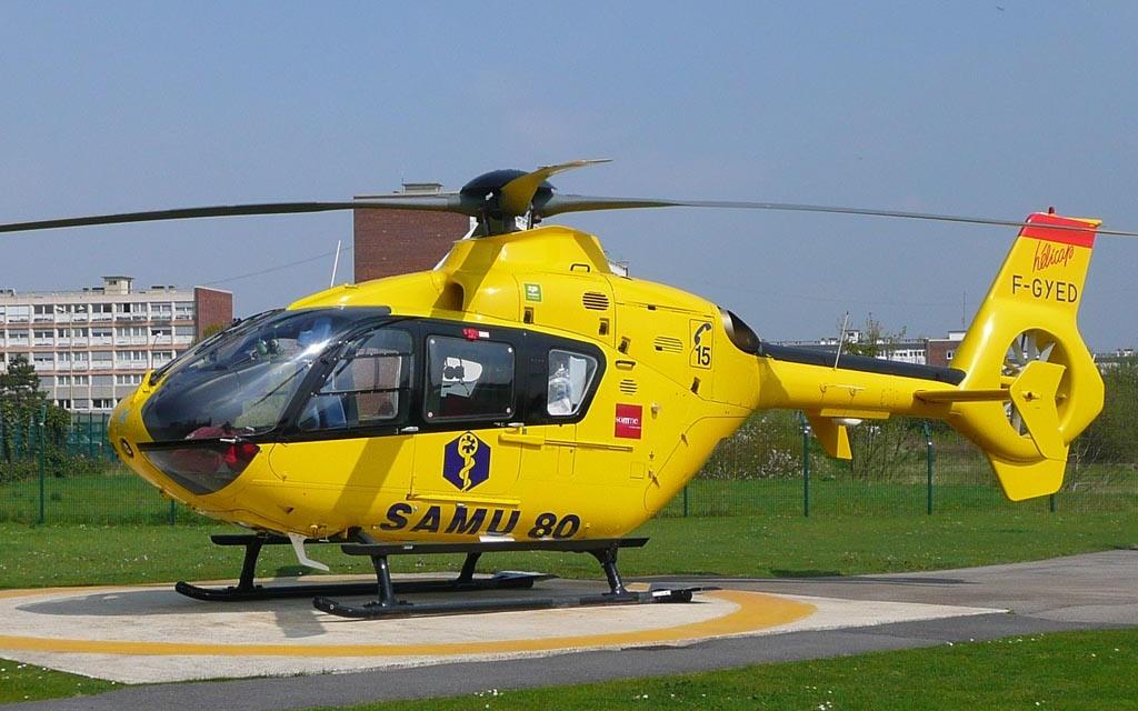 le blessé a été transféré par hélico à l'hôpital d'Amiens