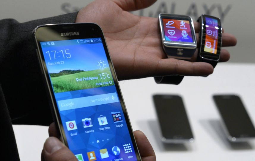 Le Galaxy S5 adapté à la montre connectée Gear 2