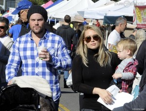 Hilar Duff, son mari et son fils