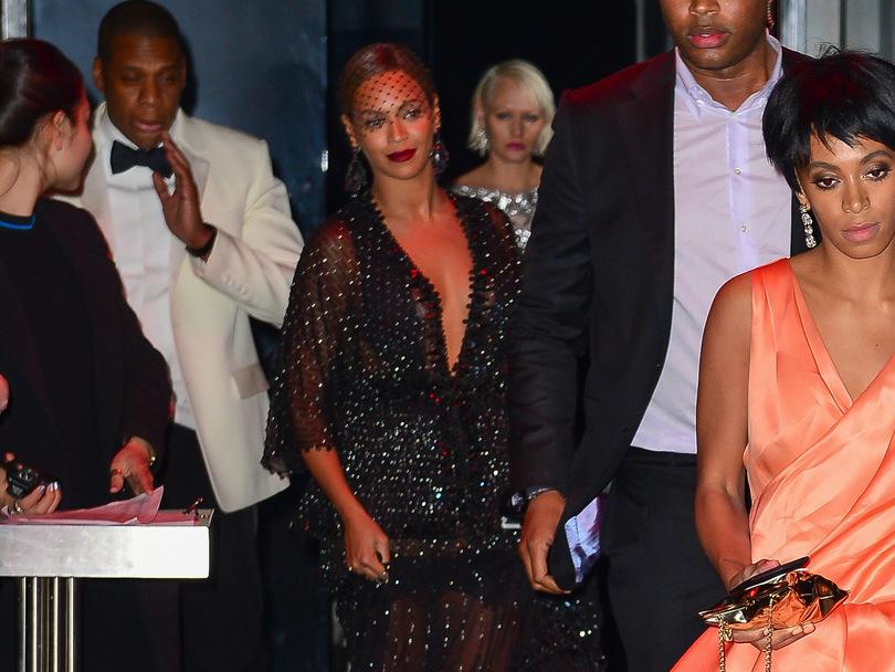 Jay-Z Beyoncé et Solange