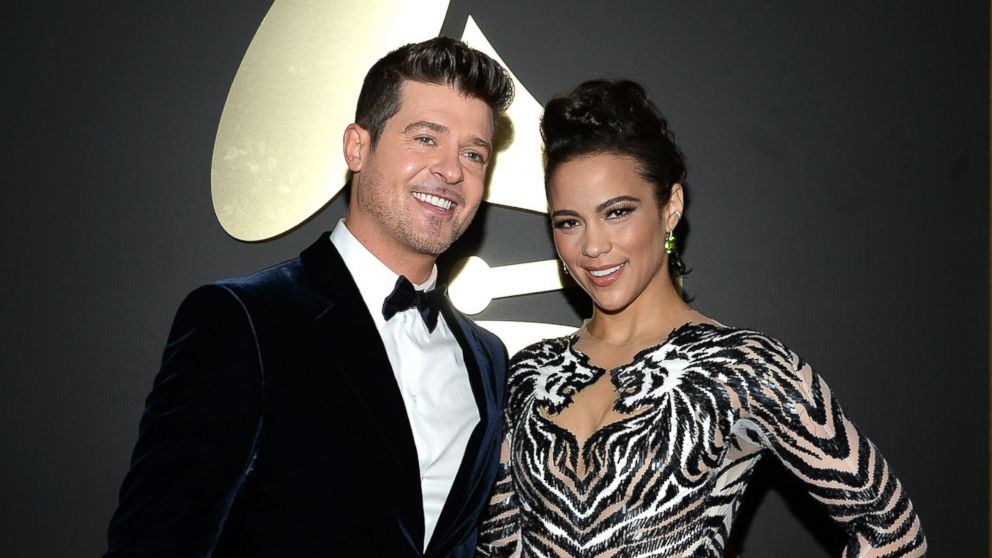 Robin Thicke et Paula Patton