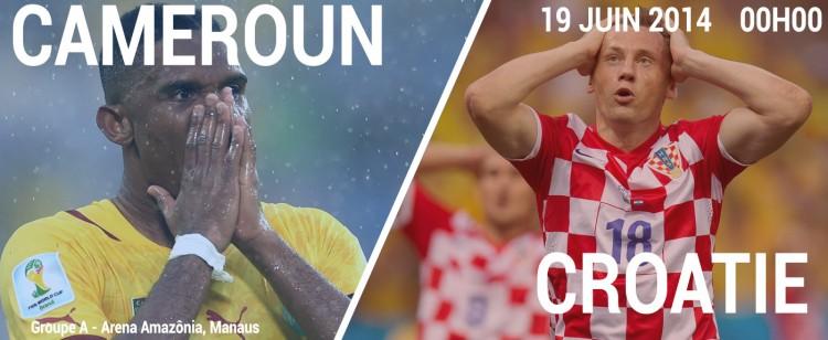 Match Cameroun Croatie en direct live sur beIN Sport 1 et Streaming sur Twitter
