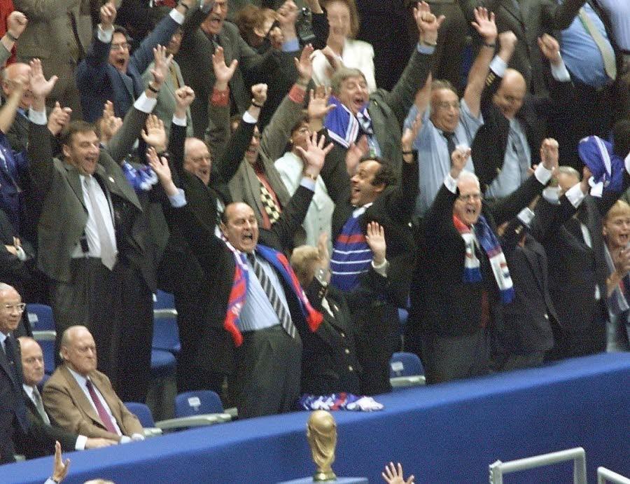 Jacques Chirac lors de la finale de la Coupe du Monde 1998