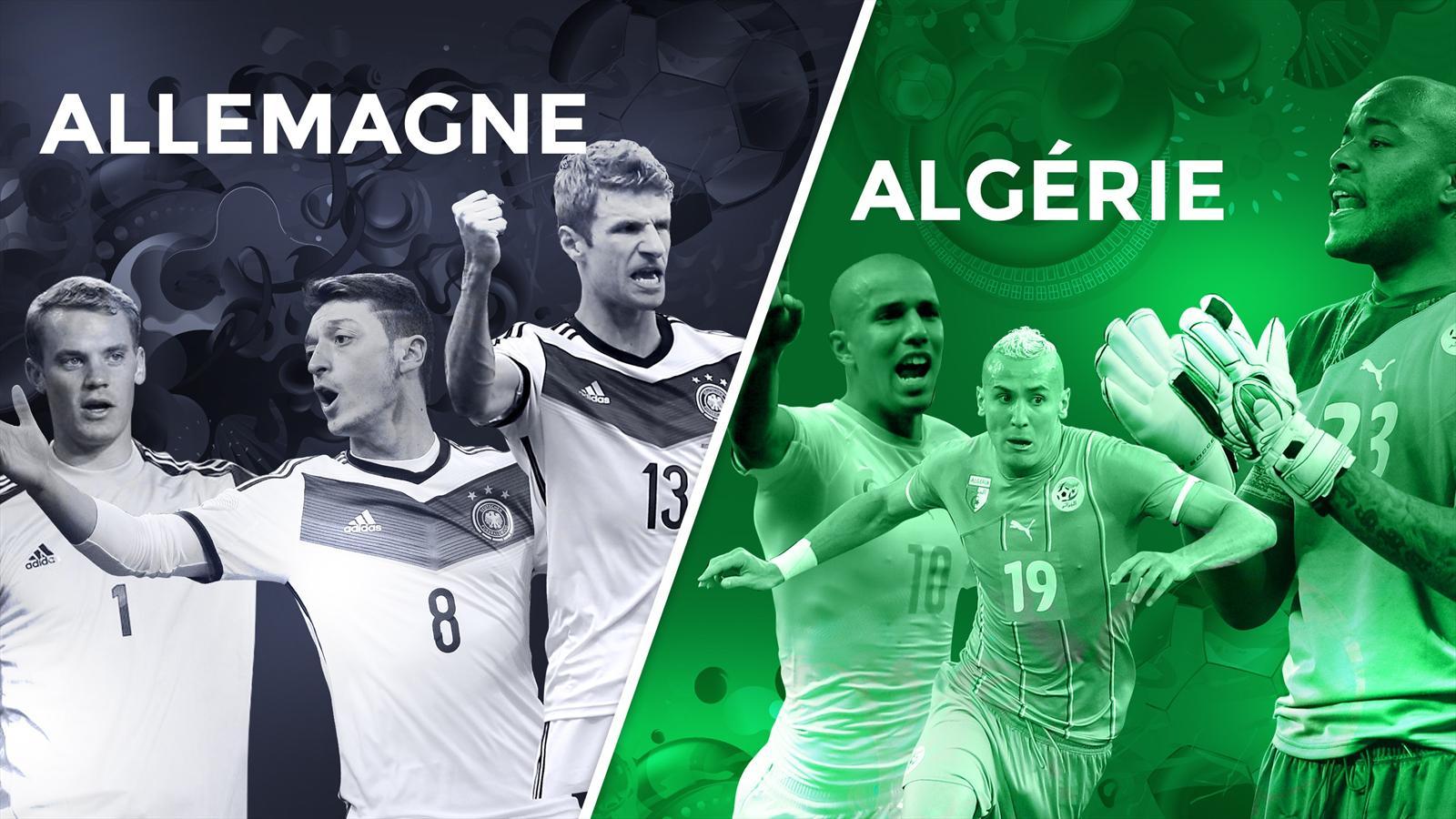 Match Algérie - Allemagne en direct live streaming