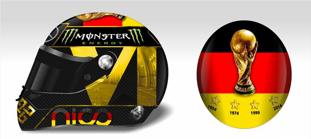 Casque F1 Nico Rosberg pour le Grand Prix Formule 1 d'Allemagne