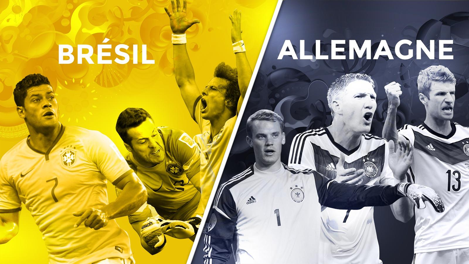 Match Bresil vs Allemagne