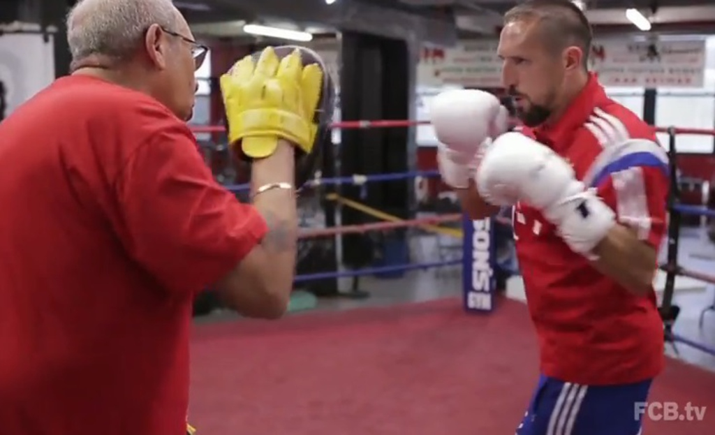 Franck Ribéry se met à la boxe