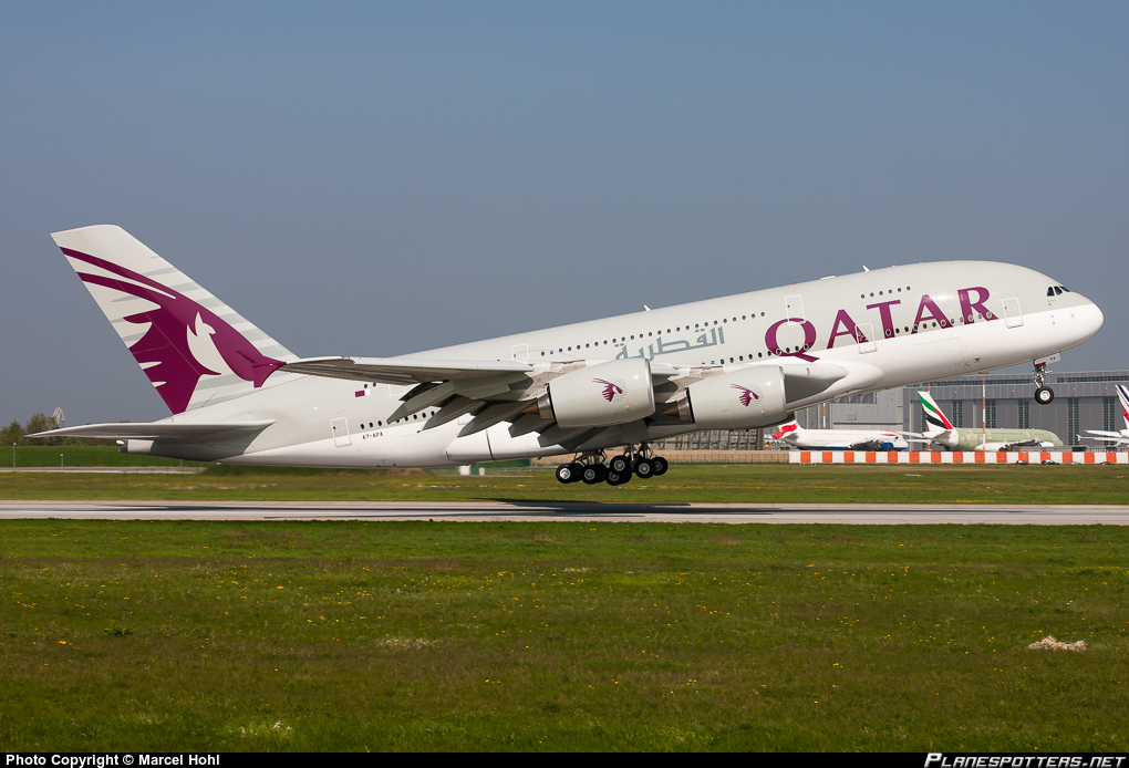 A380 de la compagnie Qatar Airways