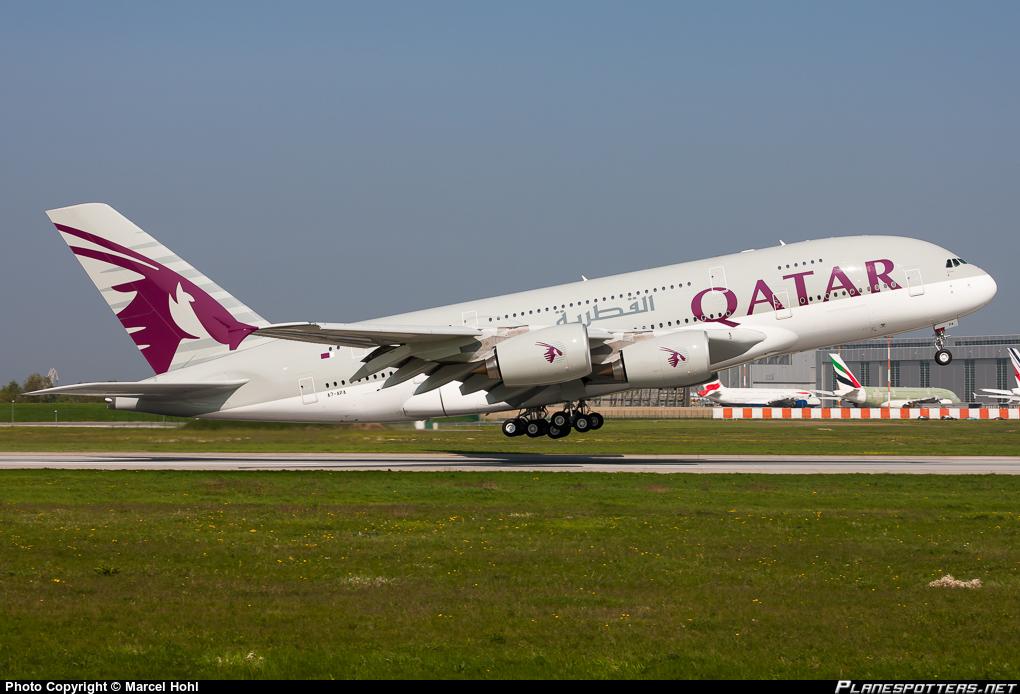 A380 de la compagnie Qatar Airways