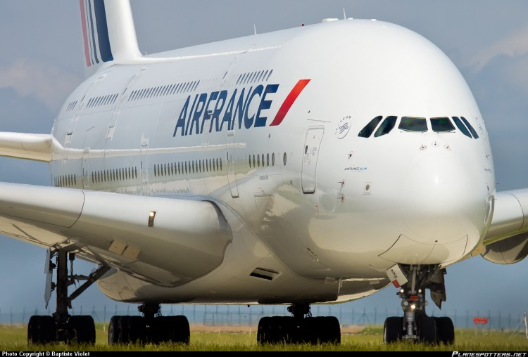Avion Airbus A380 de la compagnie Air France
