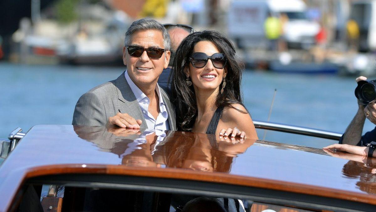 George Clooney et Amal Alamuddin à leur arrivée à Venise