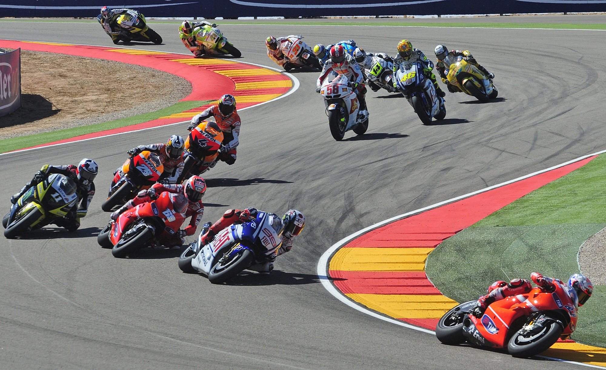 Casey StonerGrand Prix MotoGP d'Aragon (Espagne) en direct live streaming
