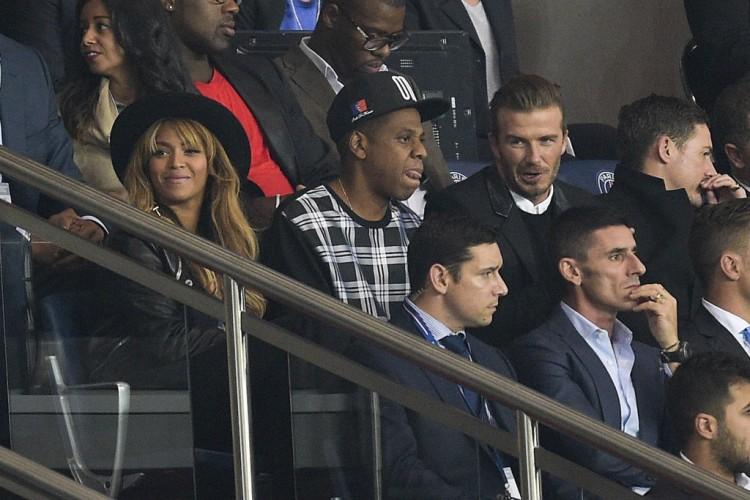 Jay-Z, Beyonce et David Beckham