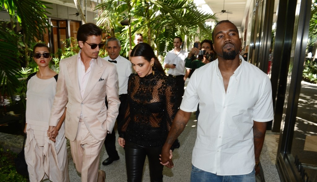 Kourtney Kardashian - Scott Disick - Kim Kardashian - Kanye West