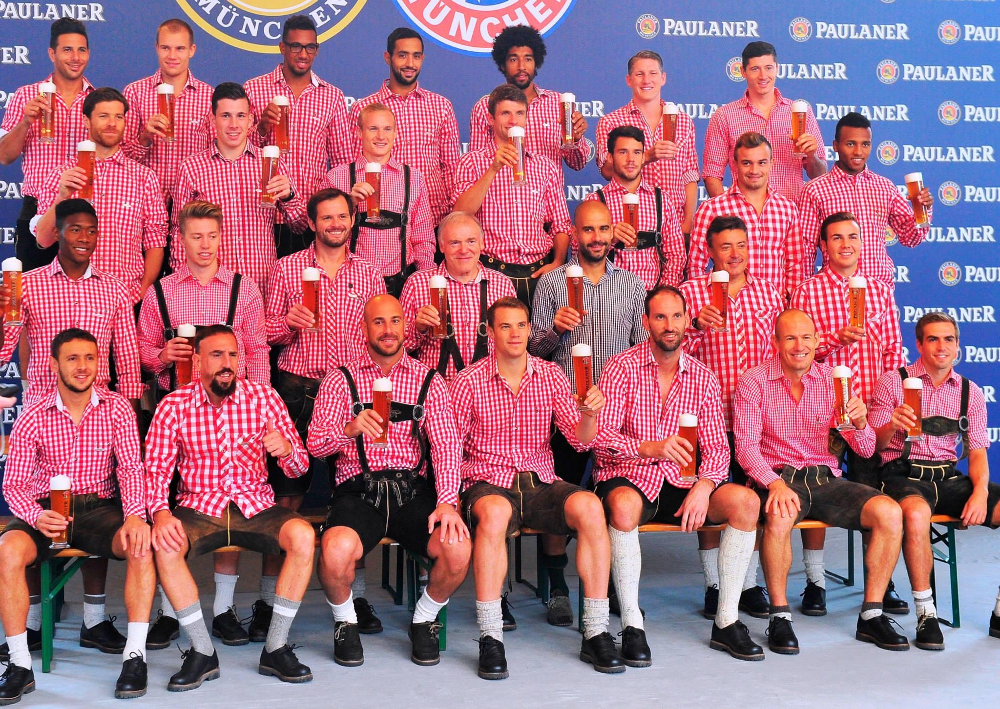 Les joueurs du Bayern Munich à l'Oktoberfest