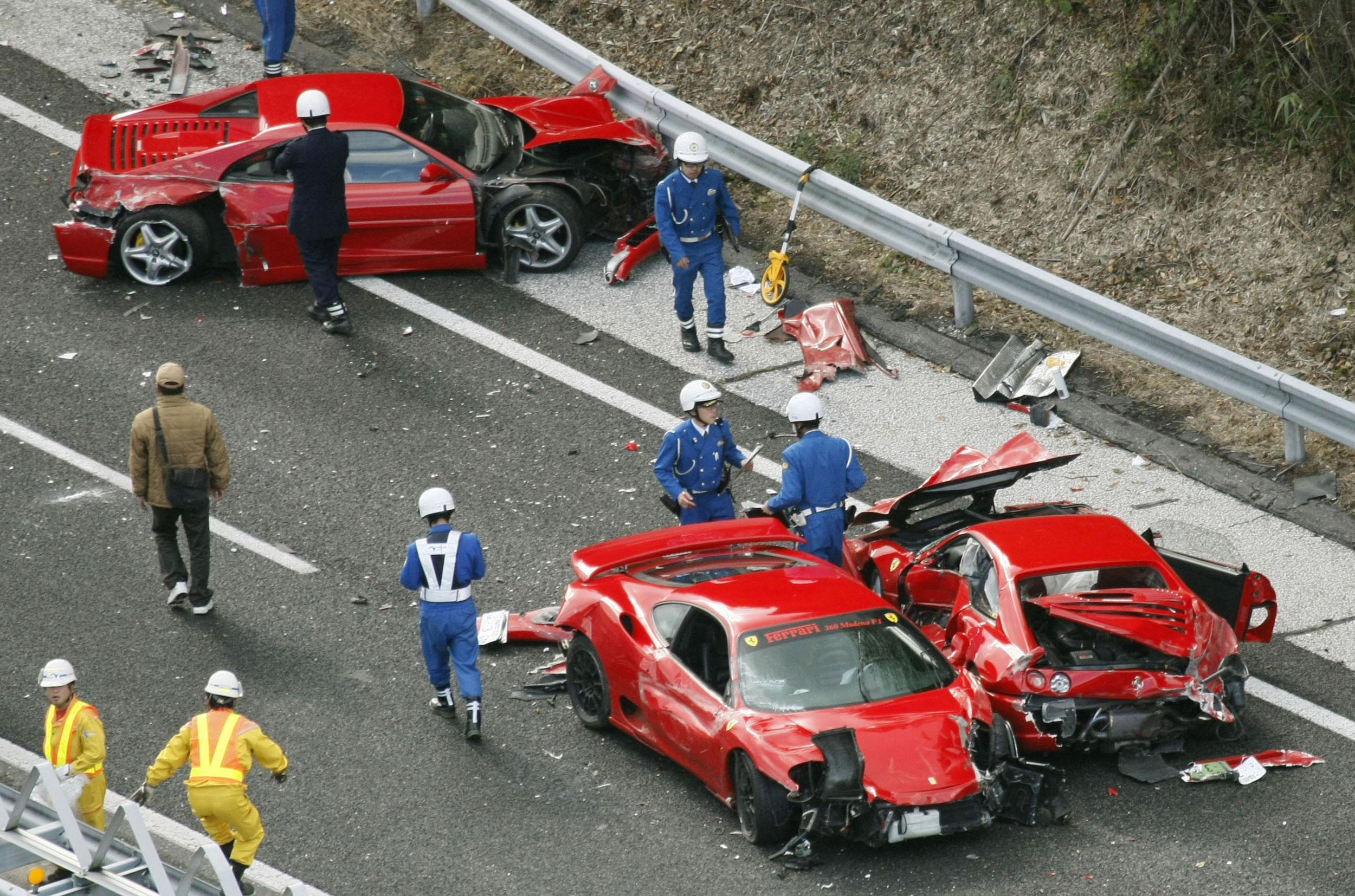 Cinq Lamborghini accidentées le même jour