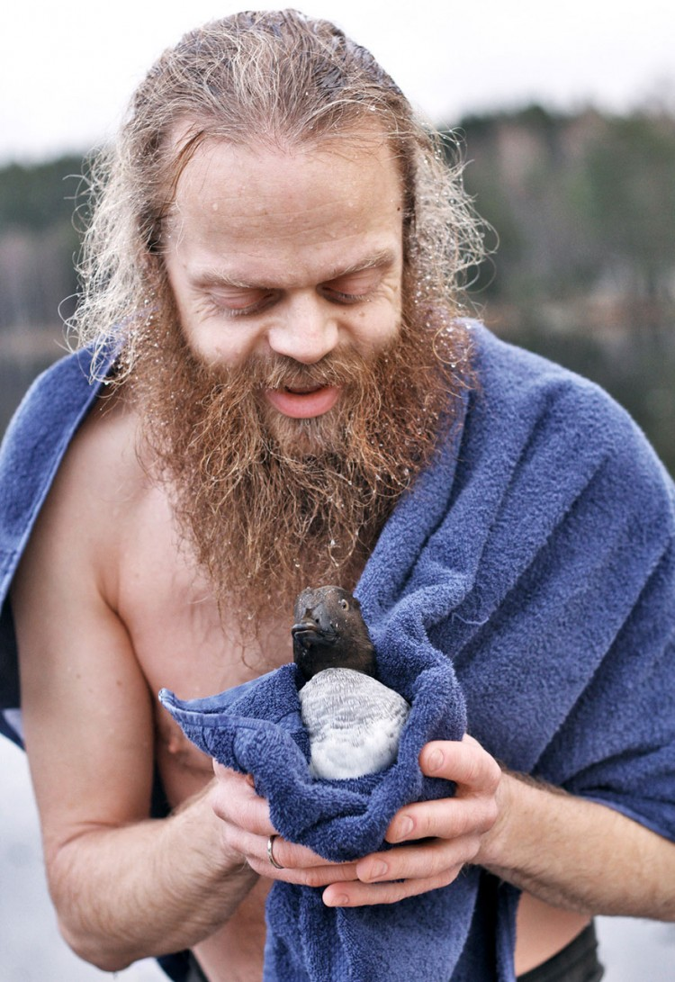 Lars Jorun et le canard sauvé
