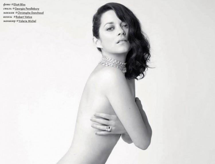 Marion Cotillard, entièrement nue en Une d'un magazine russe
