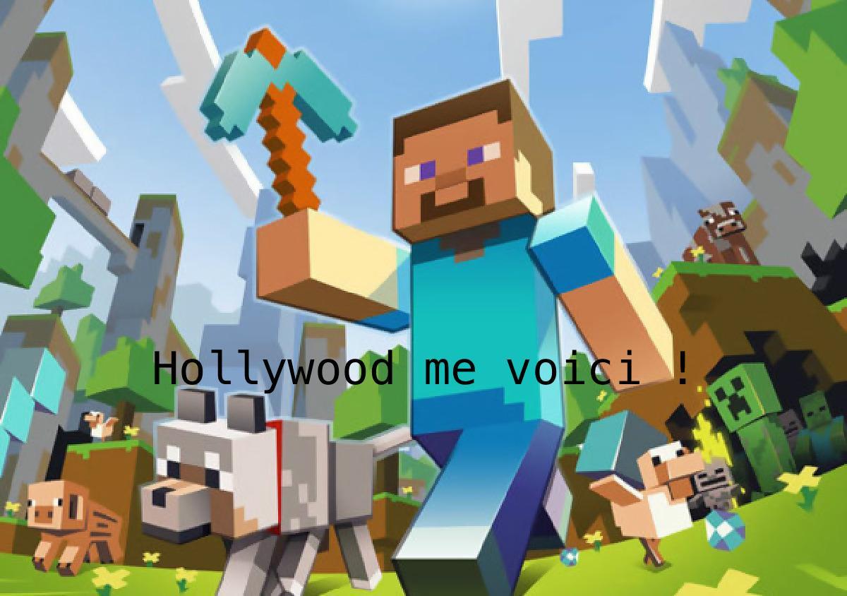 Pas de film sur Minecraft