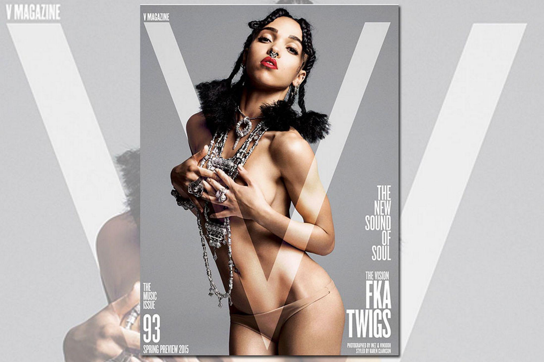 FKA Twigs pose nue pour V Magazine