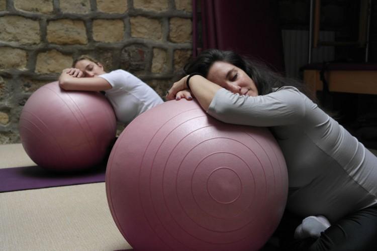 Un ballon bénéfique durant l'accouchement