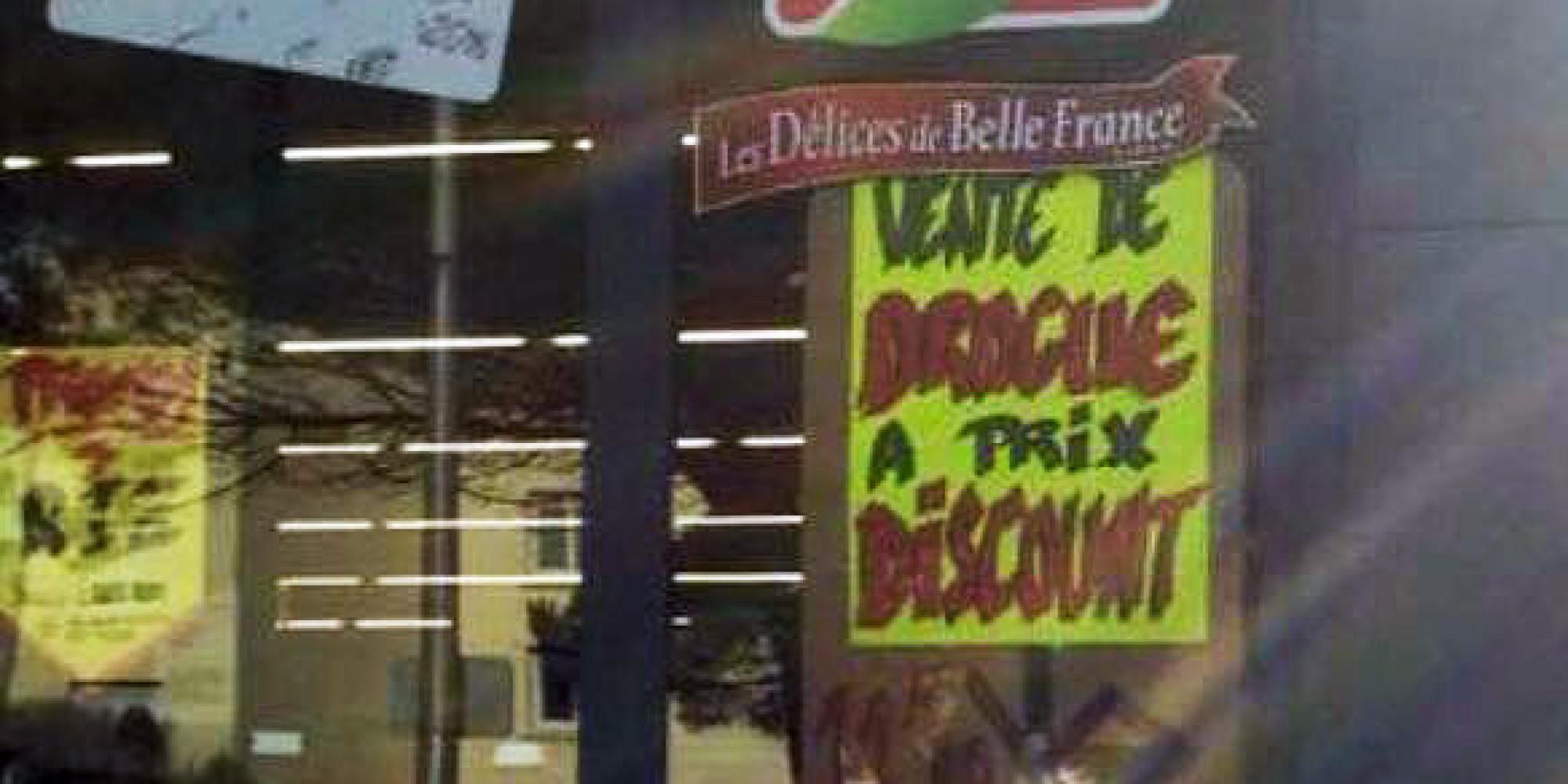 Le résultat de la colère d'un gérant d'un supermarché de Vannes