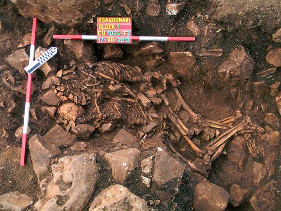 Les archéologues ont découvert en Grèce couple préhistorique