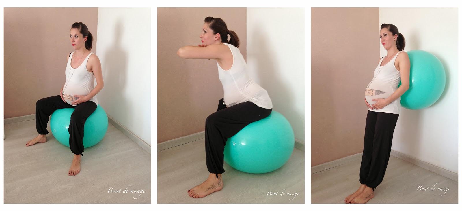 Un ballon de la forme d'une cacahuète à utiliser pendant l'accouchement