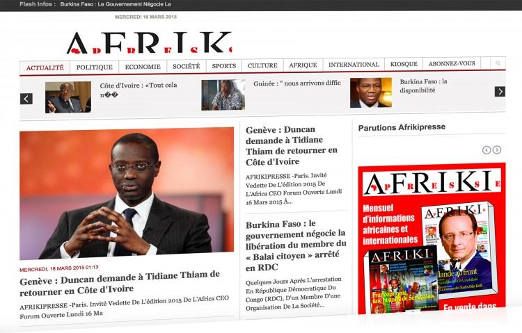 Afrikipresse: L'actualité d'Afrique en France