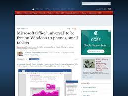 Office Universal adapté pour PC portables,  petites tablettes et smartphones