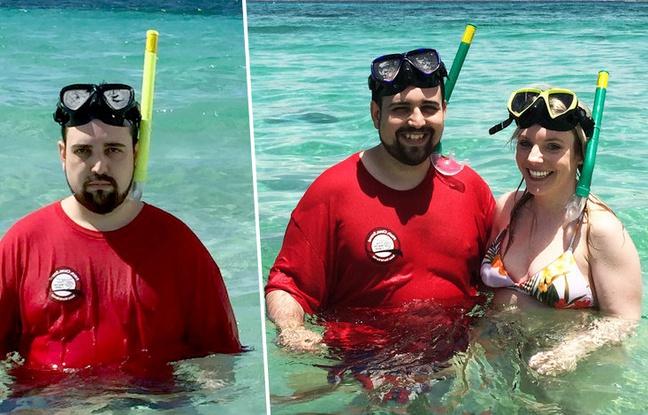 Le vacancier aux selfies tristes refait ses photos avec sa femme en souriant