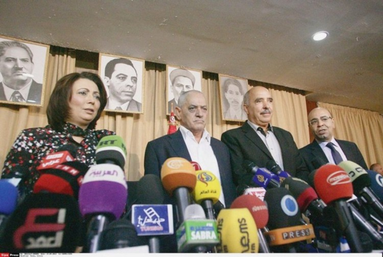 Tunisie - Quartette conduisant le dialogue national en Tunisie