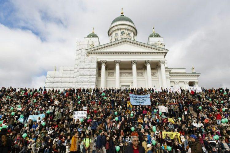Manifestation à Helsinki - Finlande