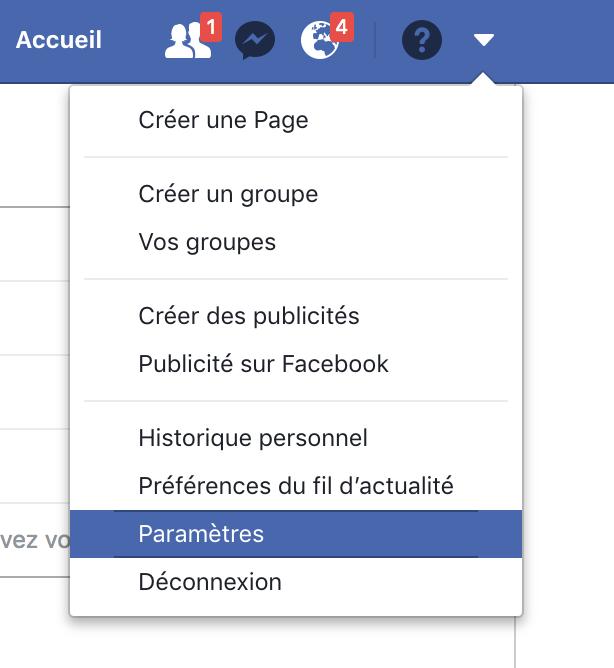 Télécharger vos données Facebook