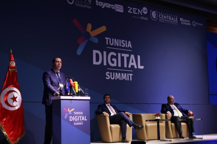 Youssef Chahed au Tunisia Digital Summit 2018