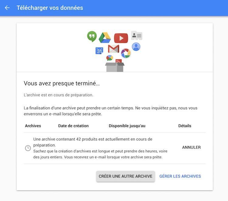 Google Takeout: Télécharger toutes vos données